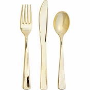 Metallic Gold Assorted Cutlery 288 ct