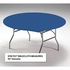 Royal Blue Stay Put Round Tablecloths sold in quantities of  1 / pkg, 12 pkgs / case