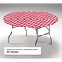 Red Gingham Stay Put Round Tablecloths sold in quantities of  1 / pkg, 12 pkgs / case