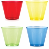 9 oz Assorted Colors Plastic Tumblers 144 ct
