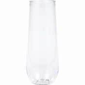 9 oz Plastic Stemless Champagne Flutes 24 ct