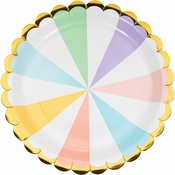 Pastel Celebrations Scalloped Dinner Plates 96 ct