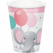 Enchanting Elephants Girl Cups 96 ct