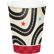Vintage Race Car Paper Cups 96 ct