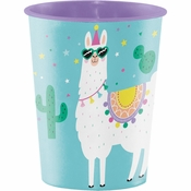 Llama Party 16 oz Plastic Cups 12 ct