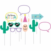 Llama Party Photo Booth Props 60 ct