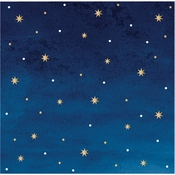 Stars and Gold Foil Beverage Napkins by Elise 288 ct