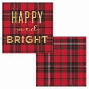 Happy and Bright Gold Foil Beverage Napkins by Elise 288 ct