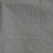 "4.75"" Regal Embossed Slate Gray Beverage Napkins 1000 ct"