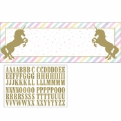 Sparkle Unicorn Banners 6 ct