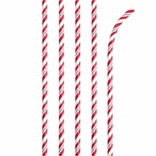 Classic Red and White Flex Paper Straws 600 ct