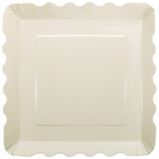 "5"" x 5"" Square White Dessert Plates 200 ct"