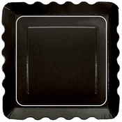 "5"" x 5"" Square Black Dessert Plates 200 ct"