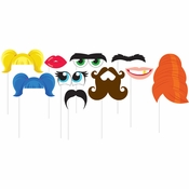 Funny Faces Photo Booth Props 60 ct