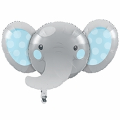 Enchanting Elephants Boy Mylar Balloons 10 ct