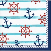 Nautical Baby Shower Beverage Napkins 192 ct