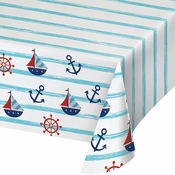 Nautical Baby Shower Paper Tablecloths 6 ct