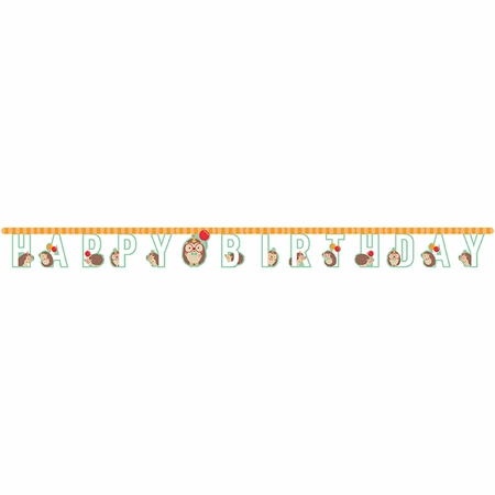 Hedgehog Party Banners 12 ct