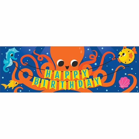 Ocean Celebration Happy Birthday Banners 6 ct
