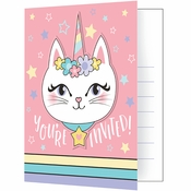 Sassy Caticorn Invitations 48 ct