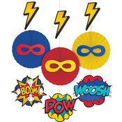 Superhero Party Hanging Decorations 36 ct