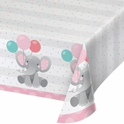 Enchanting Elephants Girl Paper Tablecloths 6 ct
