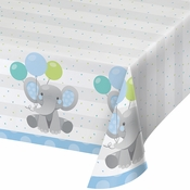 Enchanting Elephants Boy Paper Tablecloths 6 ct