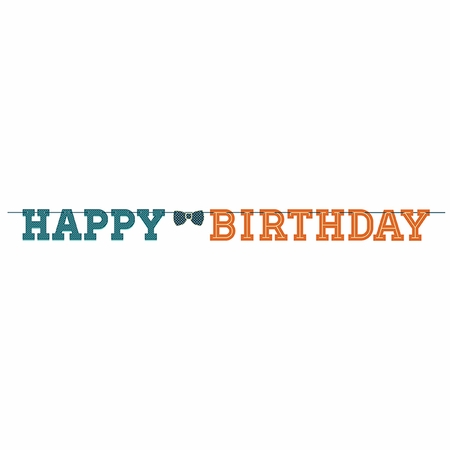 Hipster Birthday Banners 12 ct