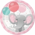 Enchanting Elephants Girl Dessert Plates 96 ct
