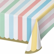 Pastel Celebrations Paper Tablecloths 6 ct