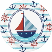 Nautical Baby Shower Dessert Plates 96 ct