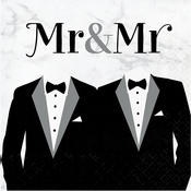 Mr. and Mr. Wedding Luncheon Napkins 192 ct
