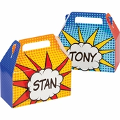 Superhero Party Treat Boxes 24 ct