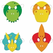 Boy Dinosaur Masks 24 ct