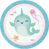 Narwhal Party Dessert Plates 96 ct