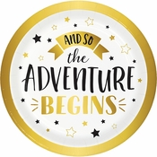 Adventure Begins Dessert Plates 96 ct