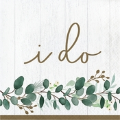 Eucalyptus I Do Luncheon Napkins 192 ct