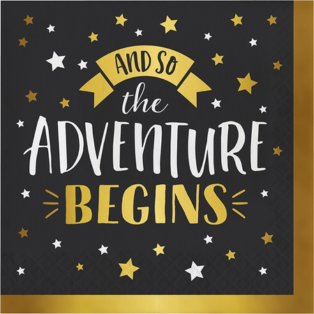 Adventure Begins Luncheon Napkins 192 ct