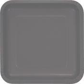 Glamour Gray Square Dinner Plates 180 ct
