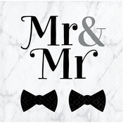 Mr. and Mr. Wedding Beverage Napkins 192 ct