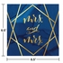 Navy Blue And Gold Foil Mrs. & Mrs. Luncheon Napkins 192 ct