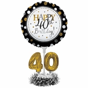 40th Birthday Balloon Centerpiece Kits 4 ct