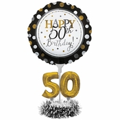 50th Birthday Balloon Centerpiece Kits 4 ct