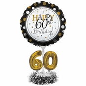 60th Birthday Balloon Centerpiece Kits 4 ct