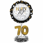 70th Birthday Balloon Centerpiece Kits 4 ct