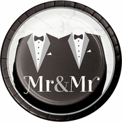 Mr. and Mr. Wedding Dessert Plates 96 ct