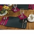 "Black 9.5"" x 13.5"" Economy Paper Placemat, flat packed in quantities of 1000 / case"