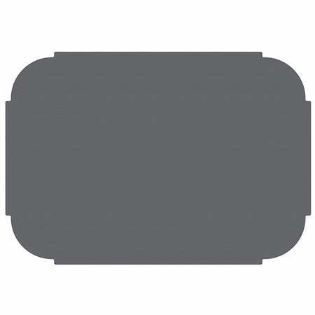 "10"" x 14"" Tiffany Edge Slate Gray Placemats 1000 ct"