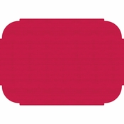 "Red 9.75"" x 14"" Decorator Placemat in quantities of 1000 / case"