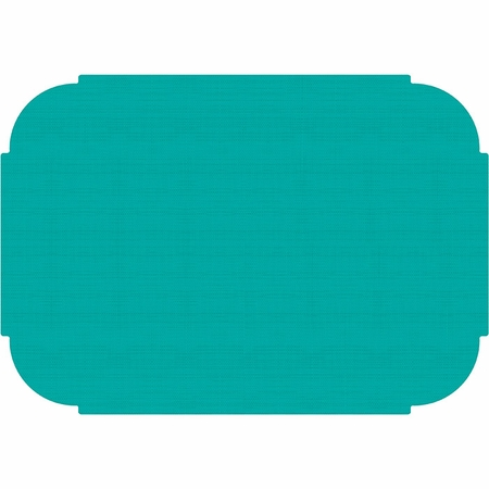 "Teal 9.75"" x 14"" Decorator Placemat in quantities of 1000 / case"